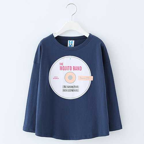 Girls Navy Blue Tees
