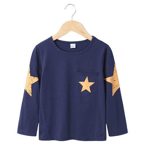 Star Printed Boys Tops Shirt