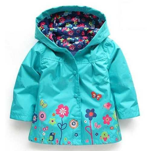Girls Boys Raincoat Trench Coat For 2Y-9Y