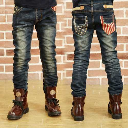 Kids Boy Elastic Waist Straight Jeans