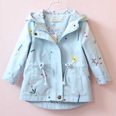 Girls Floral Embroidered Autumn Winter Jackets
