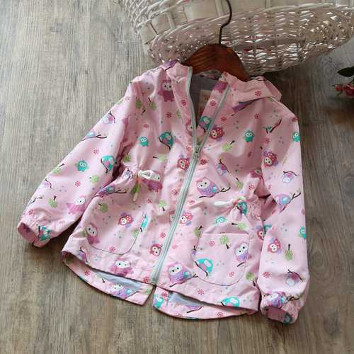 Hooded Printing Girls Jackets