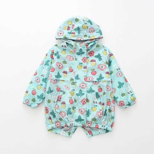 Flower Printing Girls Jackets