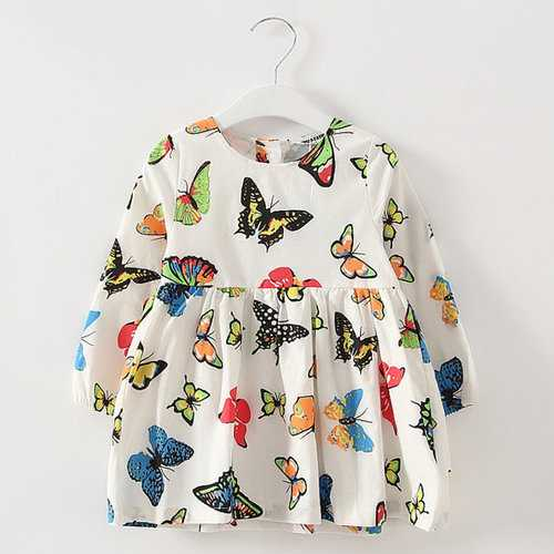 Girls Butterfly Cotton Dress