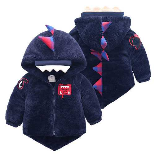 Baby Boy and Girl Dinosaur Jacket