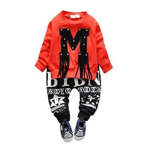Tassel Patchwork Boys Girls Clothing Sets