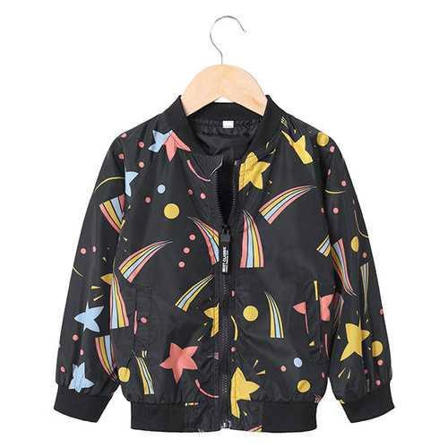 Star Printed Boy Girls Jacket 2-9Y