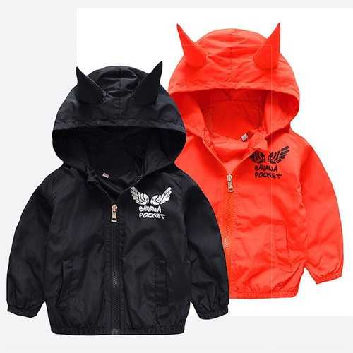 Boy Devil Hooded WindProof Jackets