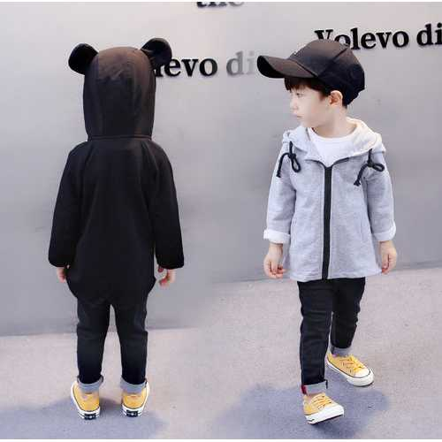Cute Ear Hooded Kids Coat