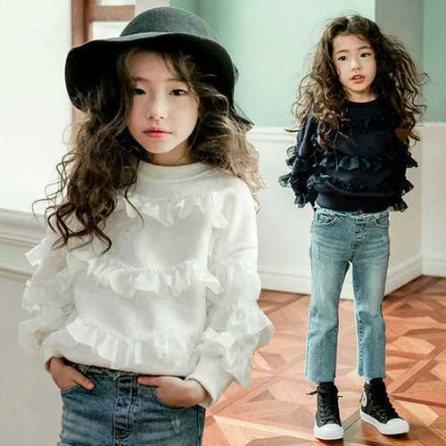 Mesh Ruffles Blouse for Kids Toddler Girls