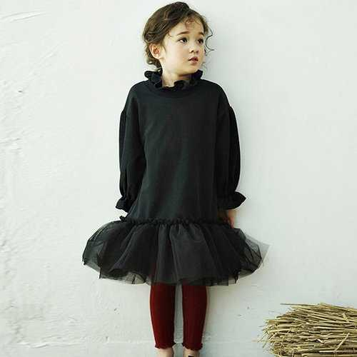 Mesh Patchwork Children Dresses