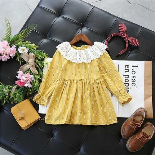 Girls Cotton Ruffles Dresses