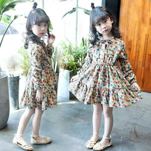 Floral Printed Girls Dress