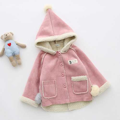 Sweet Girls Winter Hooded Coat