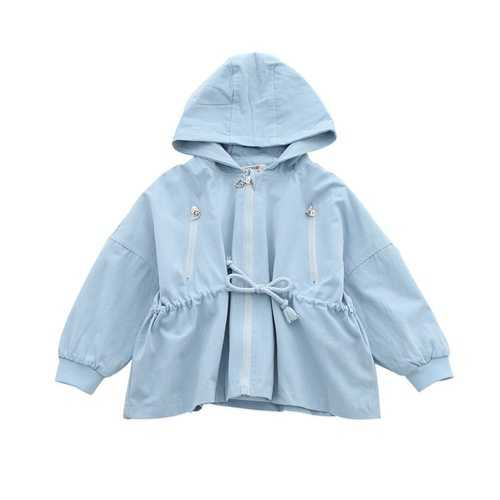 Sweet Girls Spring Autumn Hooded Coat