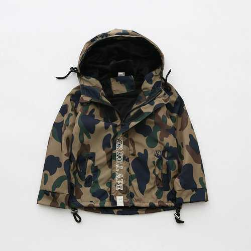 Boy Girls Camouflage Hooded Jackets