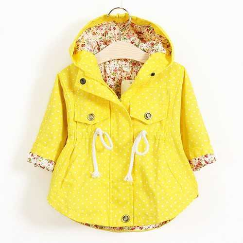 Solid Color Baby Girl Jackets