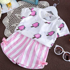 Little Girls' Short Sets For 1Y-7Y