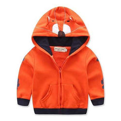 Cartoon Fox Orange Boys Jackets