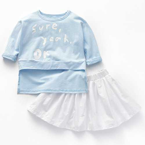 Girls Clothing Sets T-shirt + Skirt