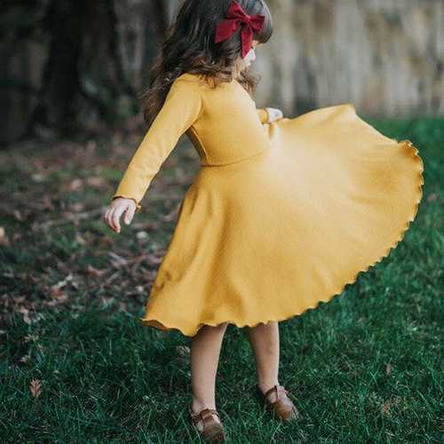 Yellow/Red Girl Party Pageant Dress