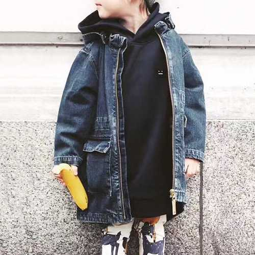 Kids Girls Boys Jeans Jacket