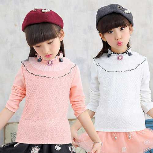 High Collar Girls Tops