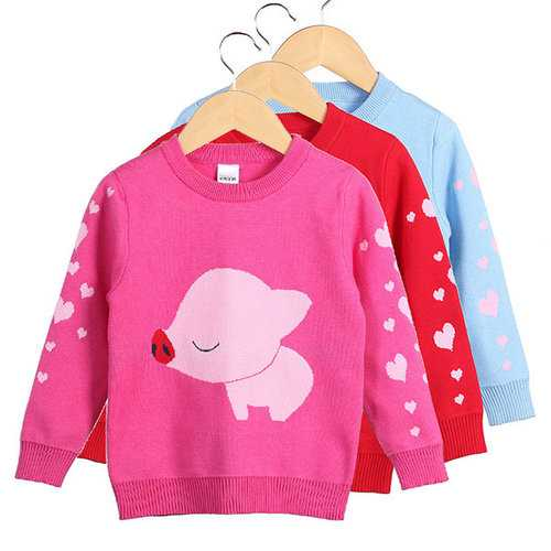 Long Sleeve Kids Girls Sweaters