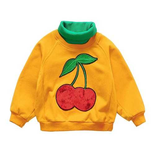 Appliques Cherry Toddler Girls Tees