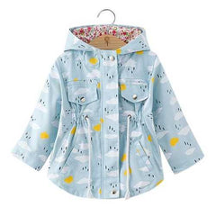 Spring Autumn Girls Windbreaker Coat
