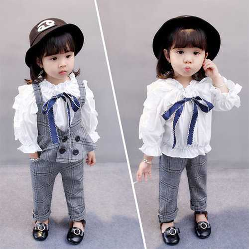 Girls Casual Sweatshirts+Pants 2Pcs Suits