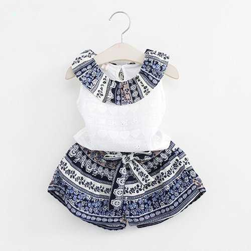 Bohemian Printed Girls Clothing Set