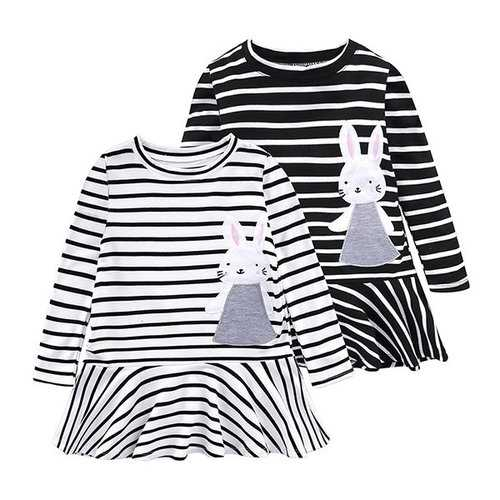 Rabbit Girl Casual Dress For 2Y-9Y