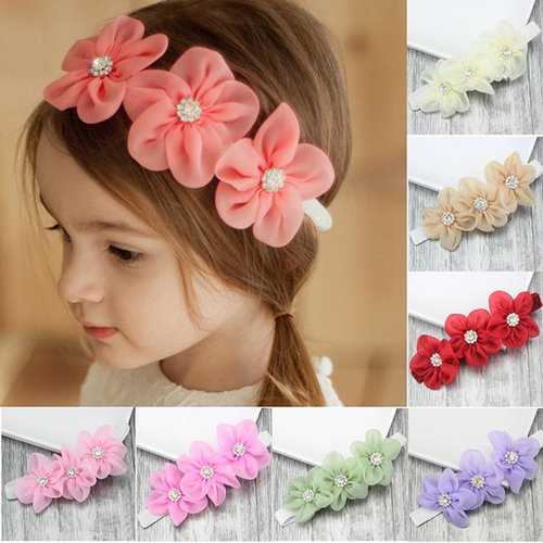 3D Flower Girls Headband