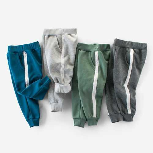 Sport Style Striped Boys Pants
