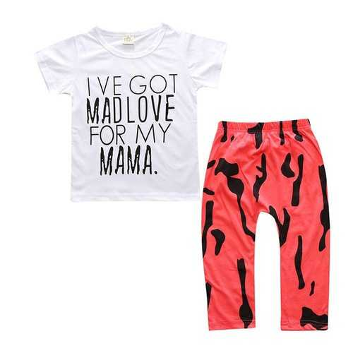 Printed Baby Boys Girls Clothing Set