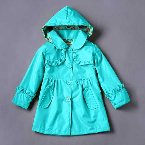 Girls Waterproof Jackets Raincoat