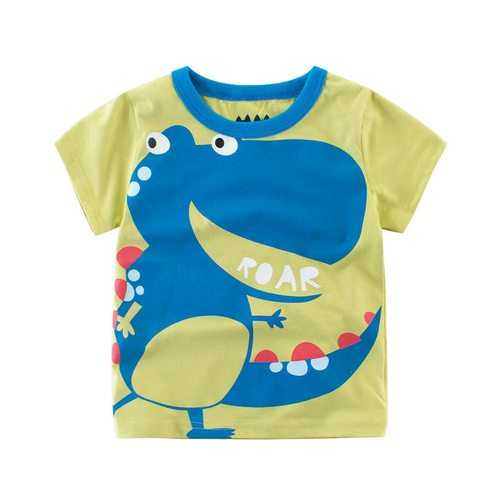 Dinosaur Baby Boys Short Sleeve Tees