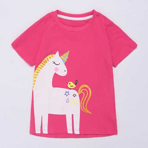 Horse Girl Summer T Shirt For 1Y-7Y
