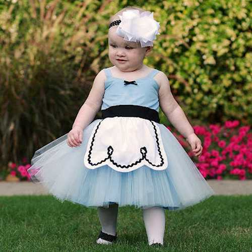 Blue Toddler Girls Princess Dress