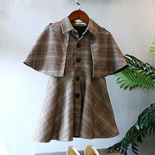 Girls Autumn Winter Cloak Coat