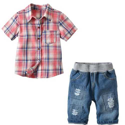 2pcs Printed Boys Short Clothing Sets