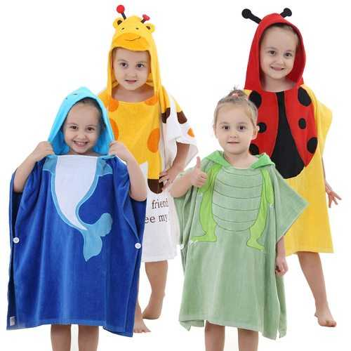 Cute Kids Boys Girls Bath Robe