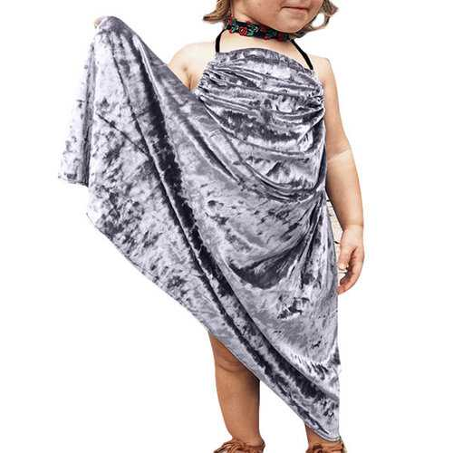 Velvet Strap Infant Baby Girls Maxi Dress