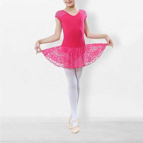 Lace Patchwork Girls' Dance Dress