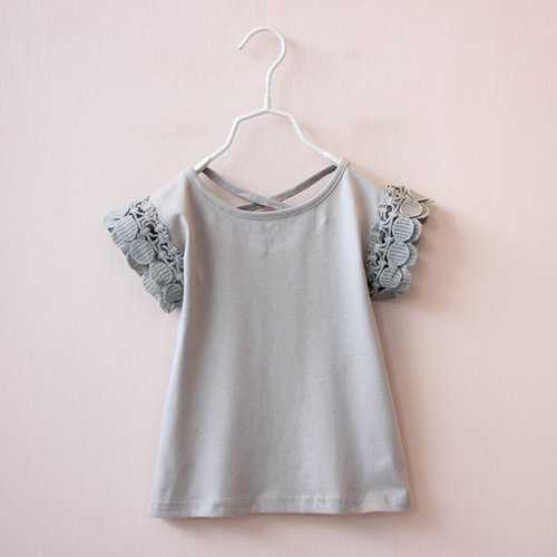 Layered Shoulder Toddler Girls Summer Top