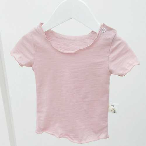 Brief Solid Color Cotton Toddler Girls Tops
