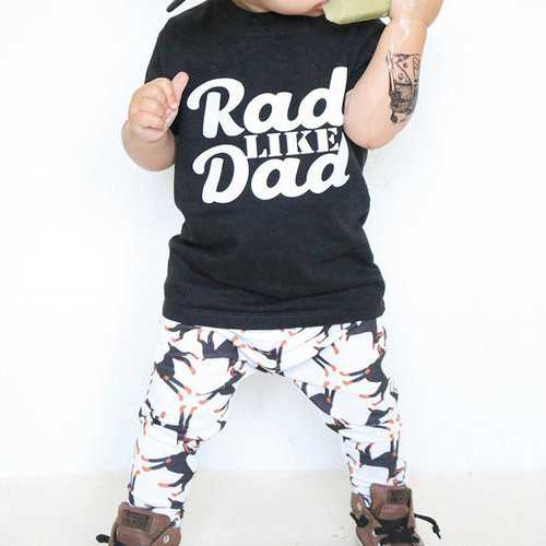 2Pcs Printed Unisex Kids Clothing Set