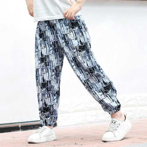 Leisure Style Girls Printed Pants
