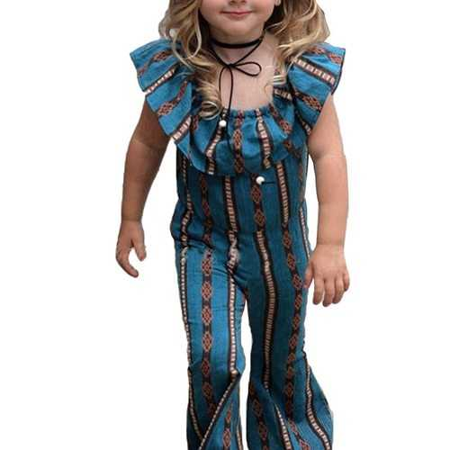 Cute Collar Baby Toddler Girls Overall Pants